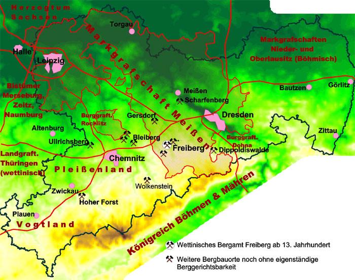 Bergbau Erzgebirge Karte.Unbekannter Bergbau In Sachsen