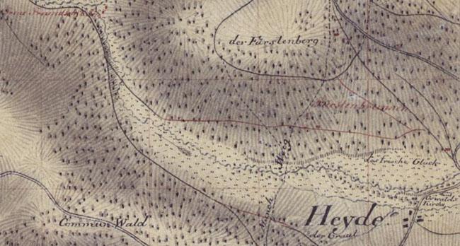 Ansichten & Landkarten Ausschnitt Von 1908 Denkmal Für F G Keller Zu Hainichen