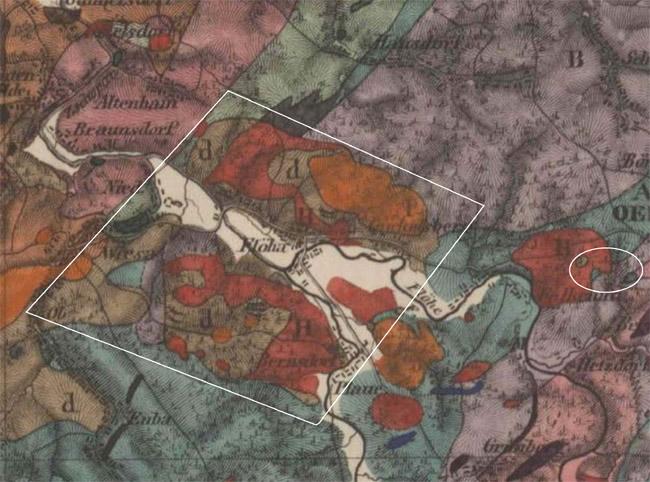Nordfranzösisches Becken historisches steinkohlenbau in flöha